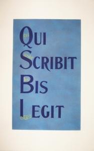 Calligramme Qui Scribit Bis Legit 2
